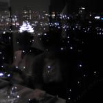 レストランから大阪城を見下ろす